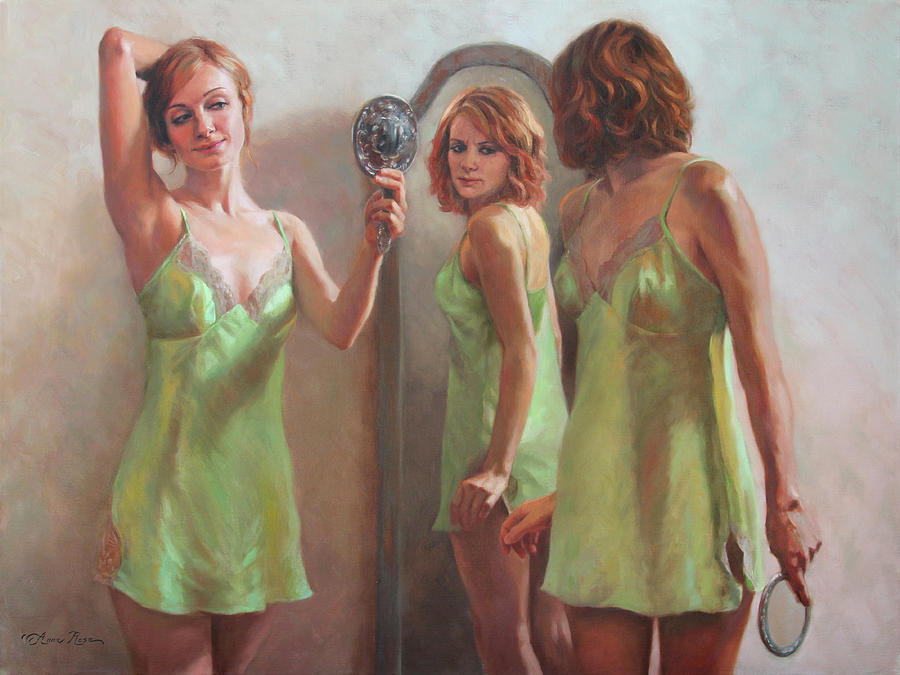 Vanity Painting - I Am Not Ugly I Am Not Beautiful by Anna Bain