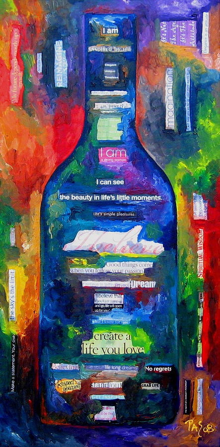 Wine Painting - I Am  by Patti Schermerhorn