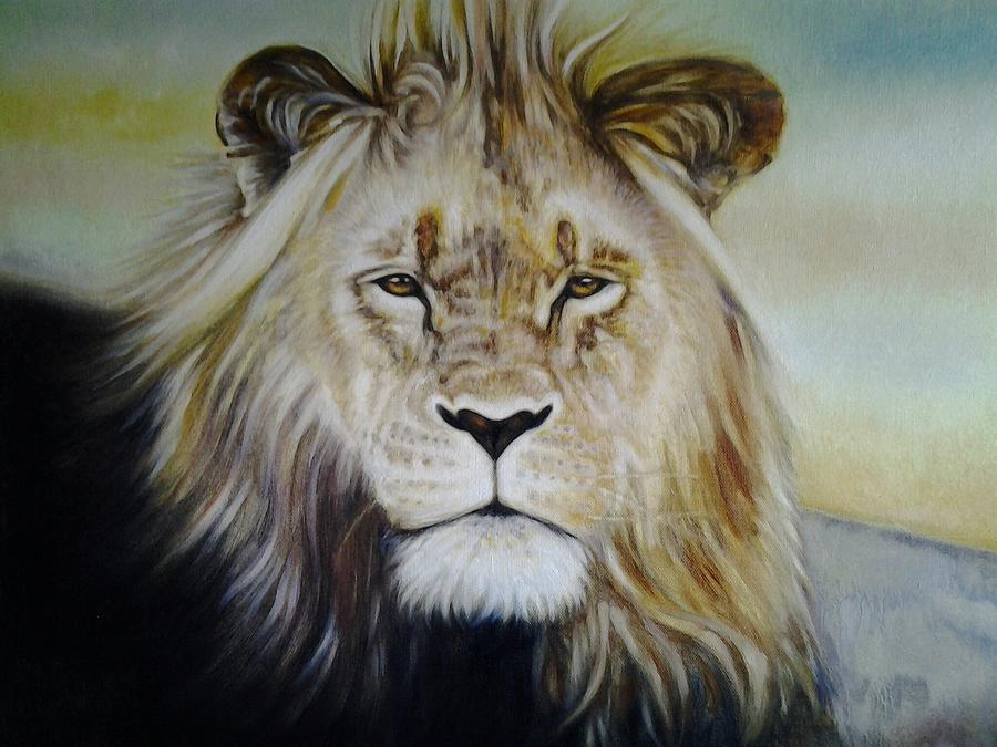 Wildlife Painting - I Am by Riek  Jonker