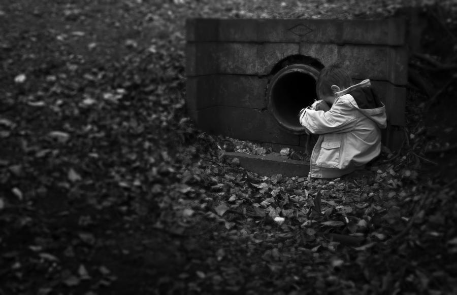 Boy Photograph - I Am Scared by Svetlana Sewell