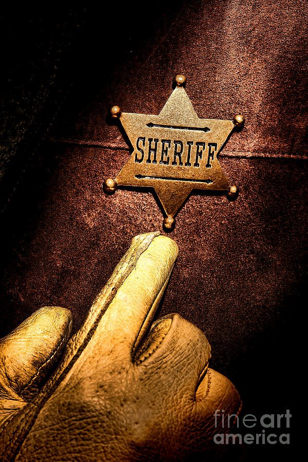 Sheriff Photograph - I Am The Law by Olivier Le Queinec
