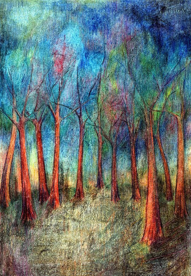 Colour Mixed Media - I Arose Morning  by Wojtek Kowalski