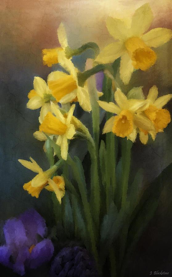 Flowers Painting - I Believe - Flower Art by Jordan Blackstone