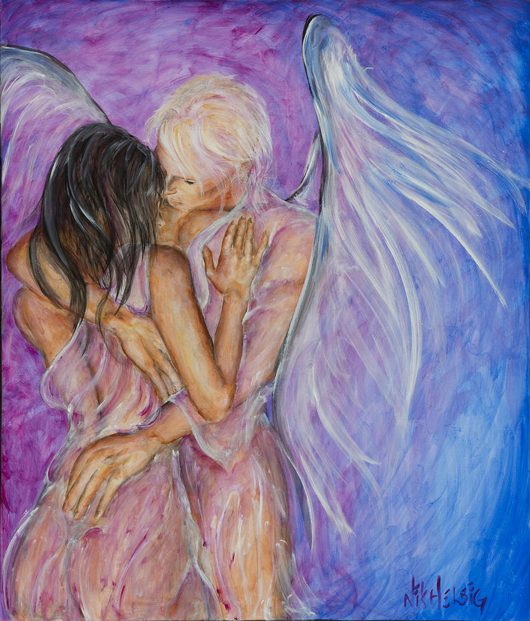 Angel Lovers Painting - I Believed In You by Nik Helbig