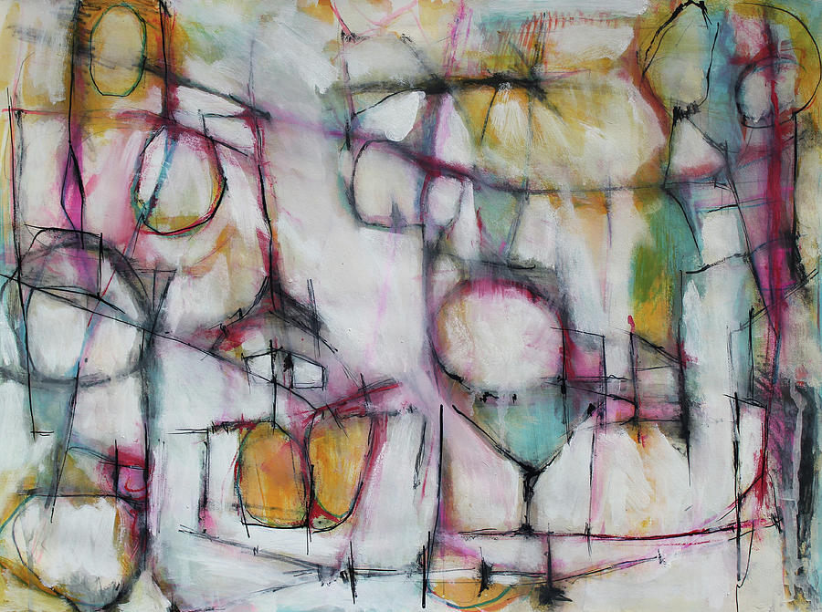 Abstract Painting Painting - I Can See Clearly Now by Hari Thomas