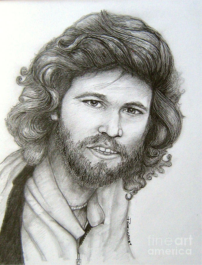 Barry Gibb Drawing By Patrice Torrillo