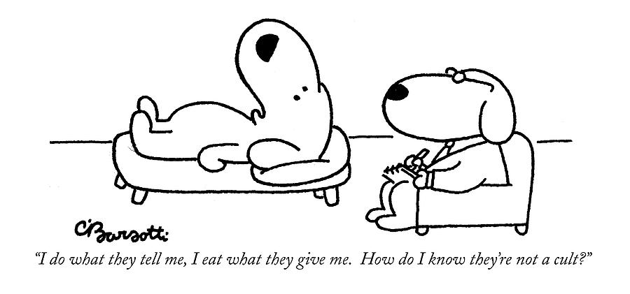 I Do What They Tell Drawing by Charles Barsotti
