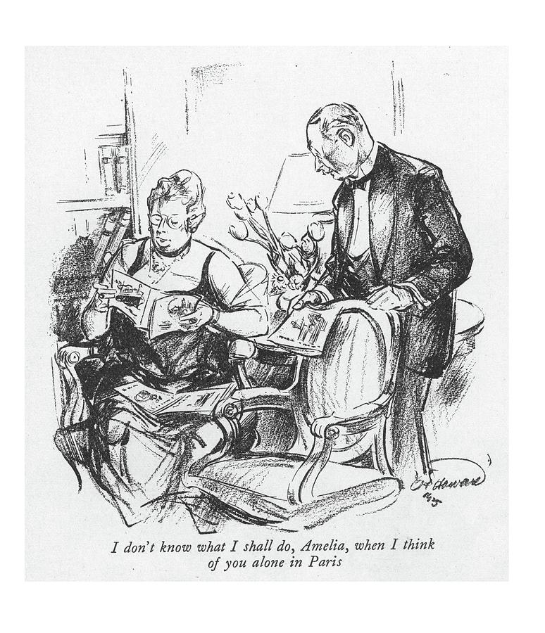 I Dont Know What I Shall Do Drawing by Oscar Howard