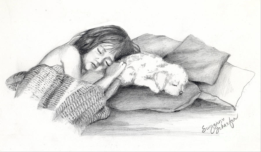 Little Girl Drawing - I Dont Need A Nap Mom by Suzanne Schaefer