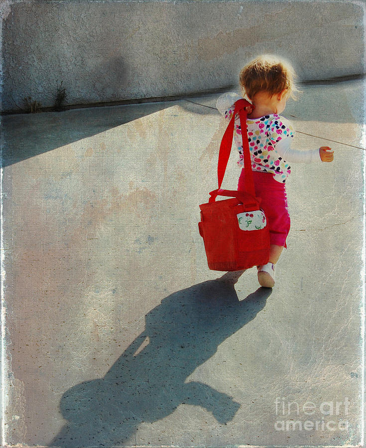 Child Photograph - I Go To Work Like Momma by Laura Sapko