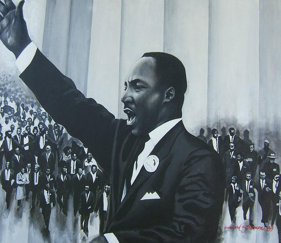 Martin Luther King Painting - I Have A Dream by Howard Stroman