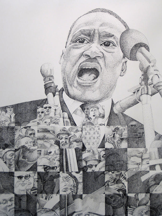 Martin Luther King Drawing - I Have A Dream Martin Luther King by Joshua Morton