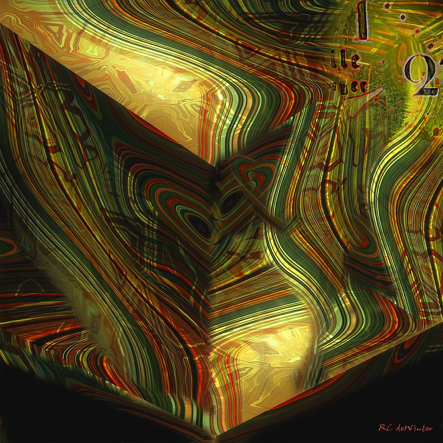 Abstract Painting - I Have Set Aside A Block Of Time by RC DeWinter