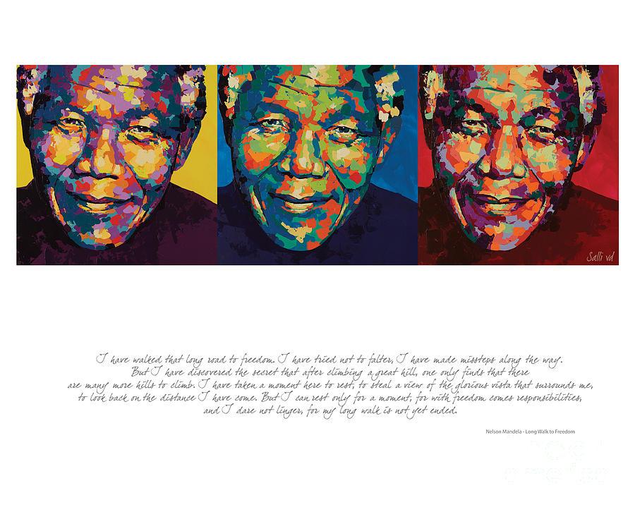 Nelson Mandela Painting - I Have Walked That Long by Salli Van Druten