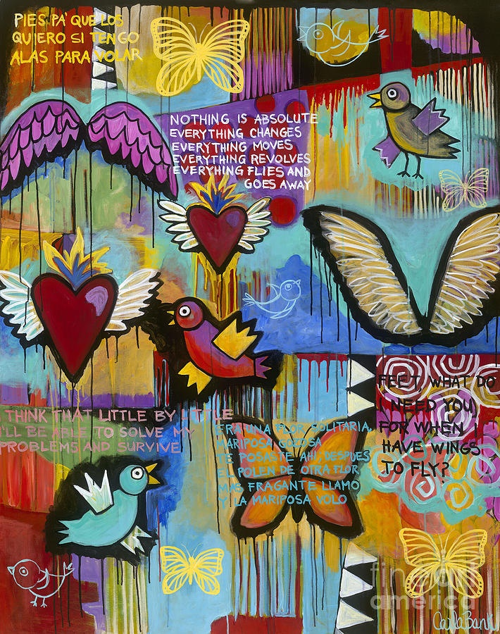 Wings Painting - I Have Wings To Fly by Carla Bank