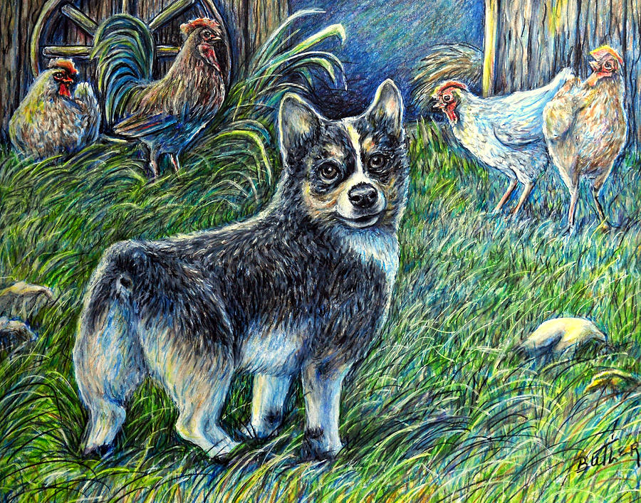 Animal Painting - I Heard You But.... by Gail Butler
