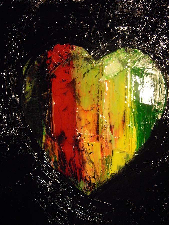 i heart reggae painting by robert cunningham