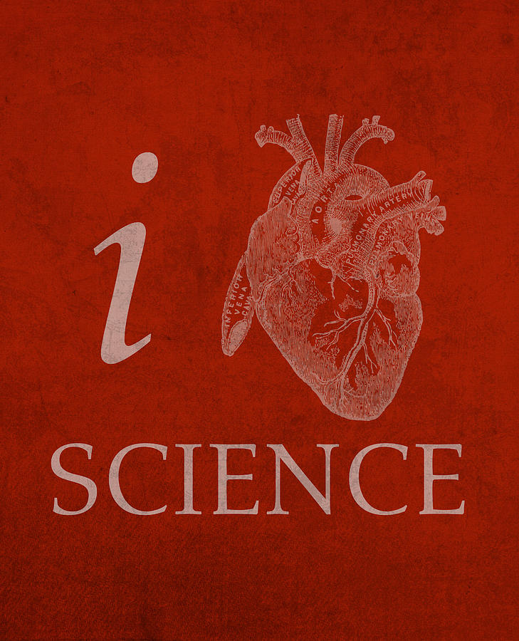 I Heart Science Humor Poster Mixed Media By Design Turnpike