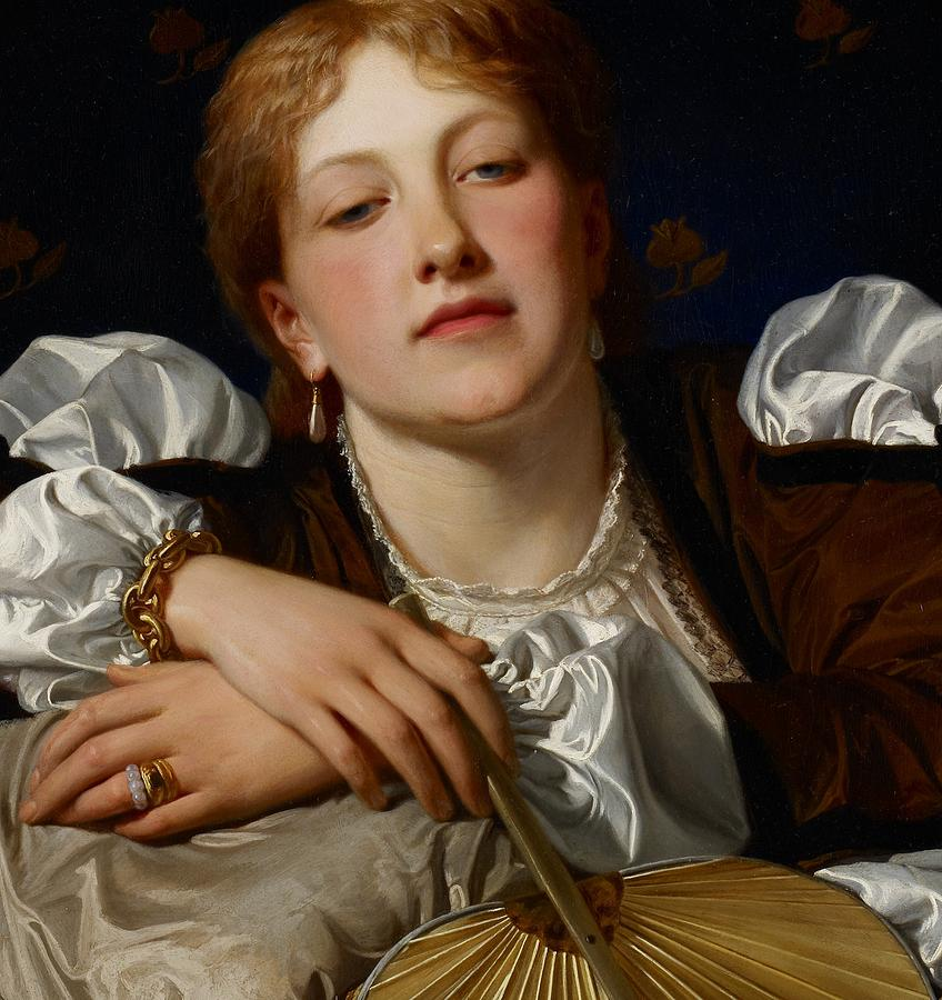 Portrait Painting - I Know A Maiden Fair To See by Charles Edward Perugini