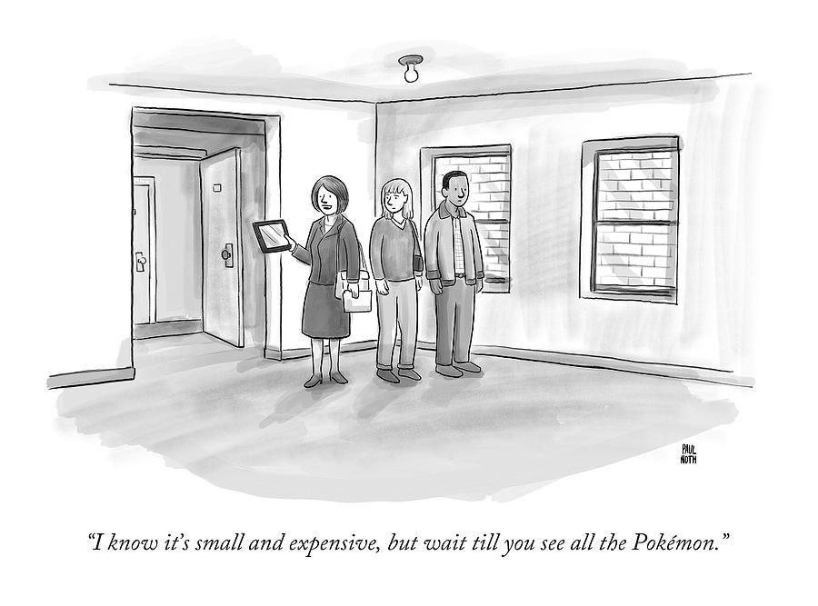 I Know Its Small And Expensive Drawing by Paul Noth