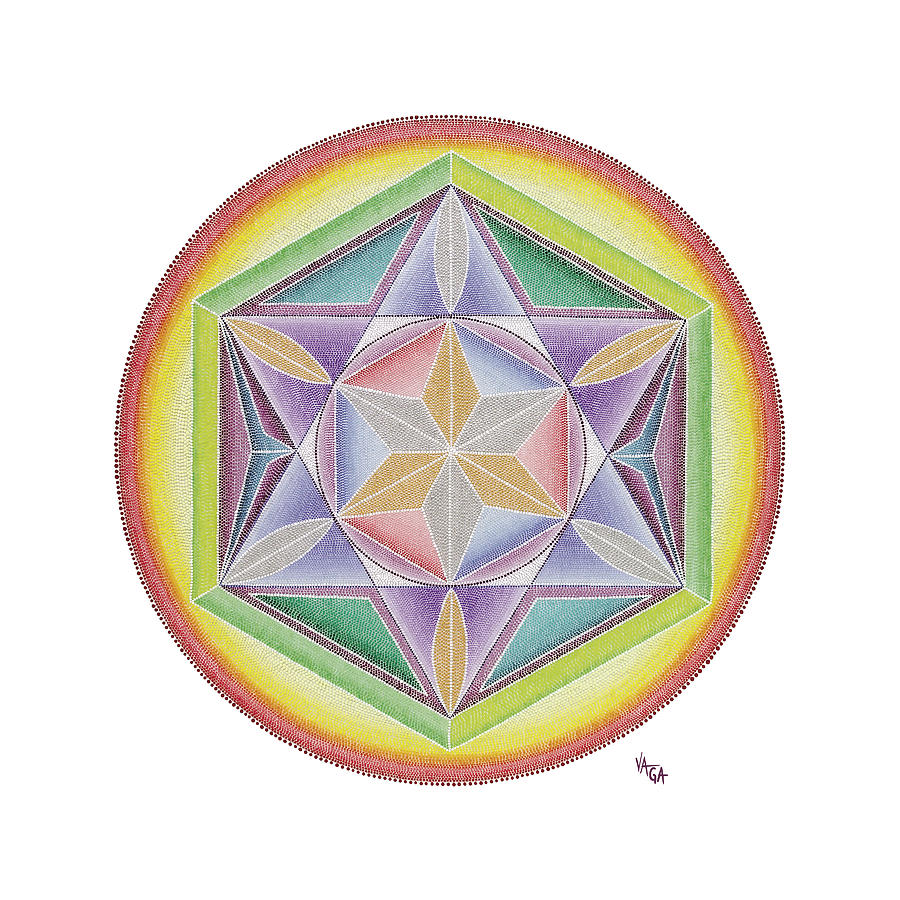 Mandala Painting - I Know That I Am by Vanda Omejc