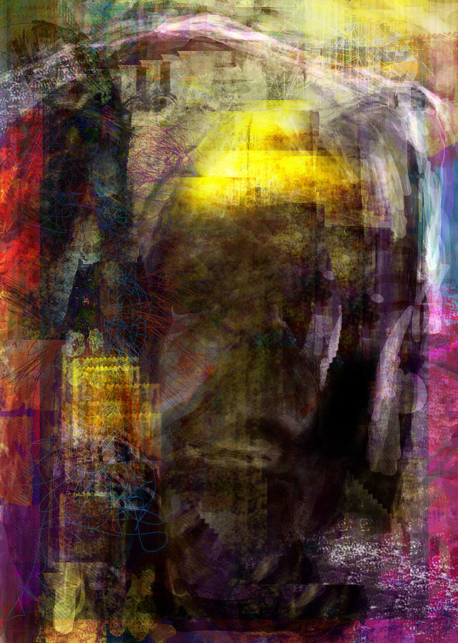 Abstract Digital Art - I Know Your There by James Thomas