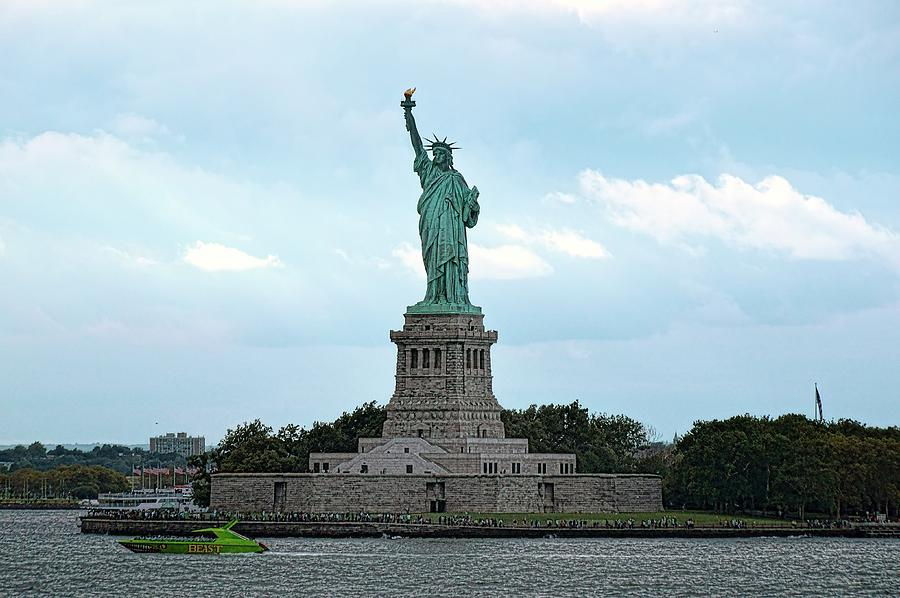 Statue Of Liberty Photograph   I Lift My Lamp Beside The Golden Door By  Lanis Rossi
