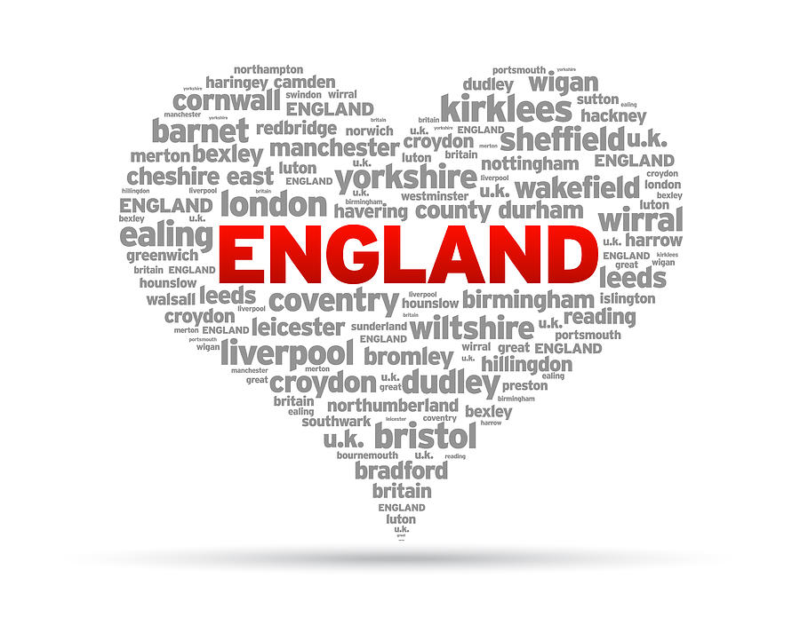 England Drawing - I Love England by Aged Pixel