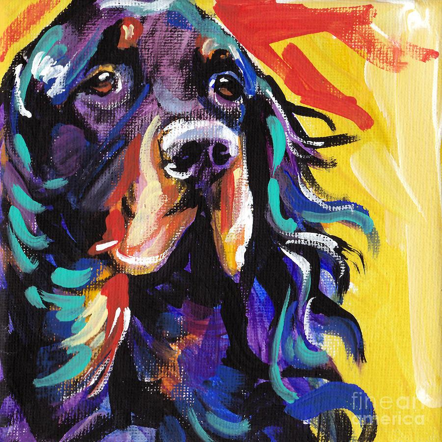 Gorgon Setter Painting - I Love Gordon by Lea S