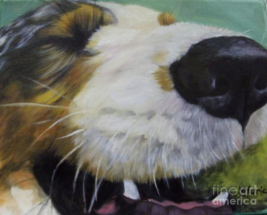 Dog Painting - I Love My Ball by M J Venrick