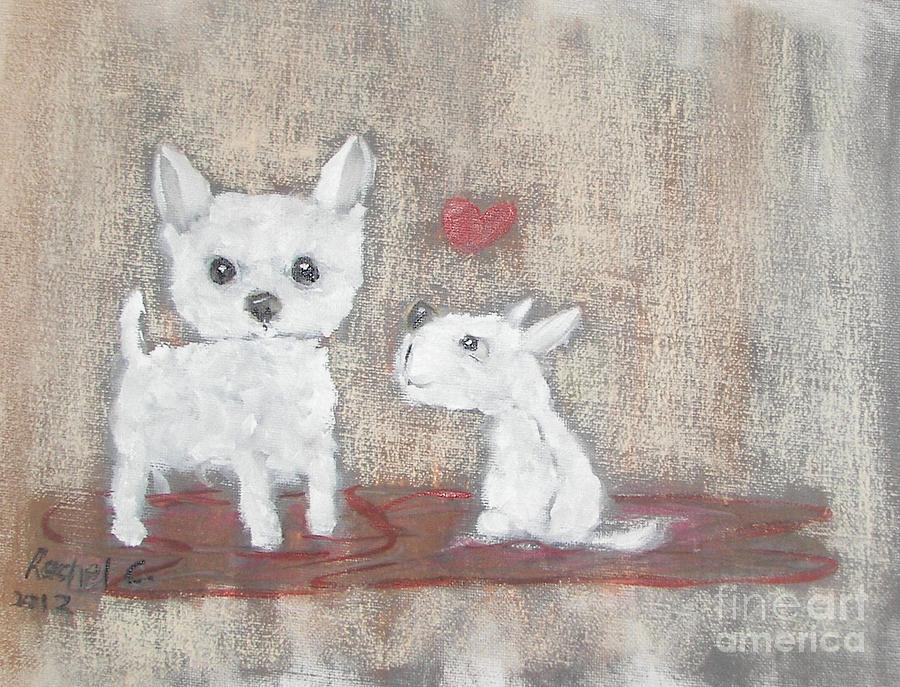 Pets Painting - I Love My Big Sister by Rachel Carmichael