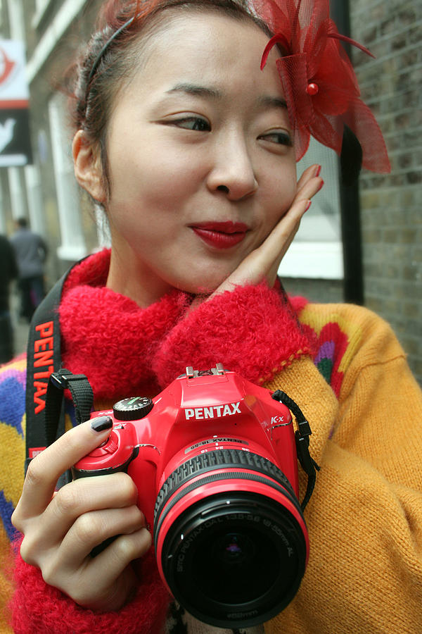 Red Photograph - I Love My Little Red Camera by Stephen Norris