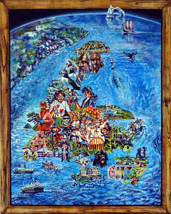 Newfoundland Painting - I Love Newfoundland by Michael Gaudet