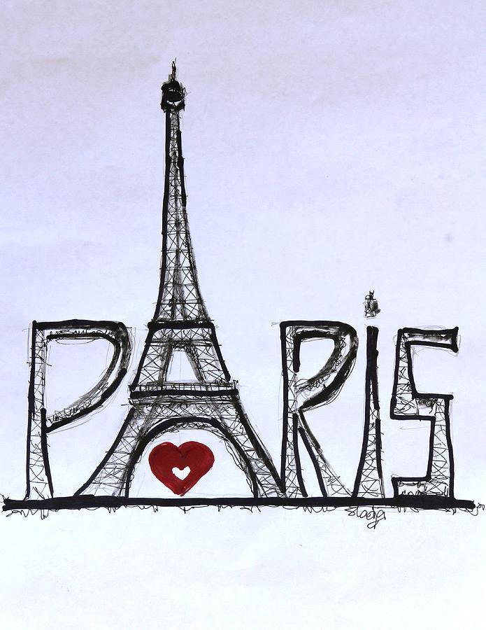 I Love Paris Sladjana Endt on Easy Coloring Pages