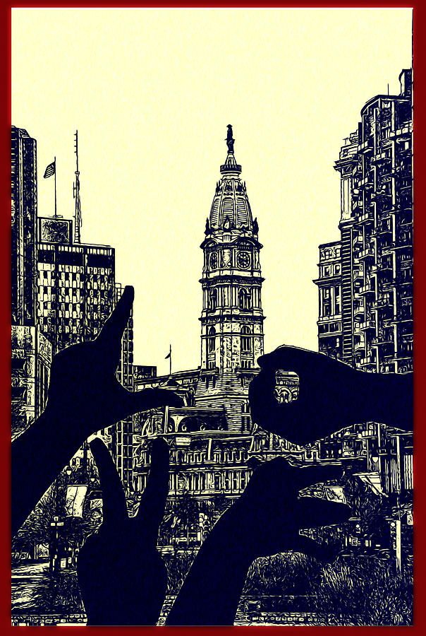 I Love Philly Photograph - I Love Philly by Bill Cannon