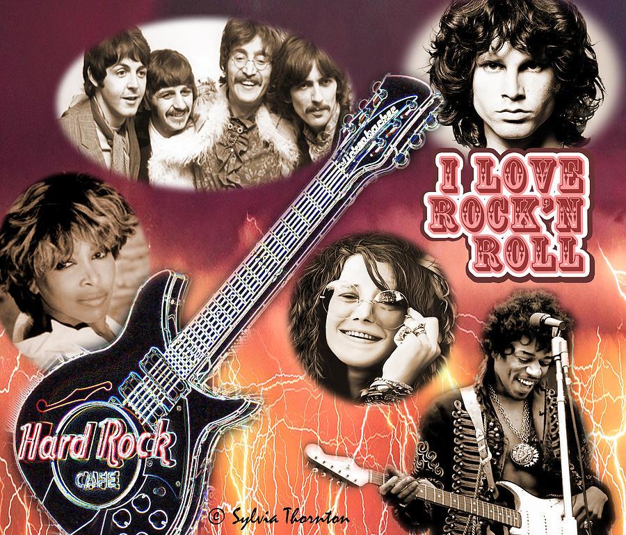 Jimi Hendrix Photograph - I Love RockN Roll by Sylvia Thornton