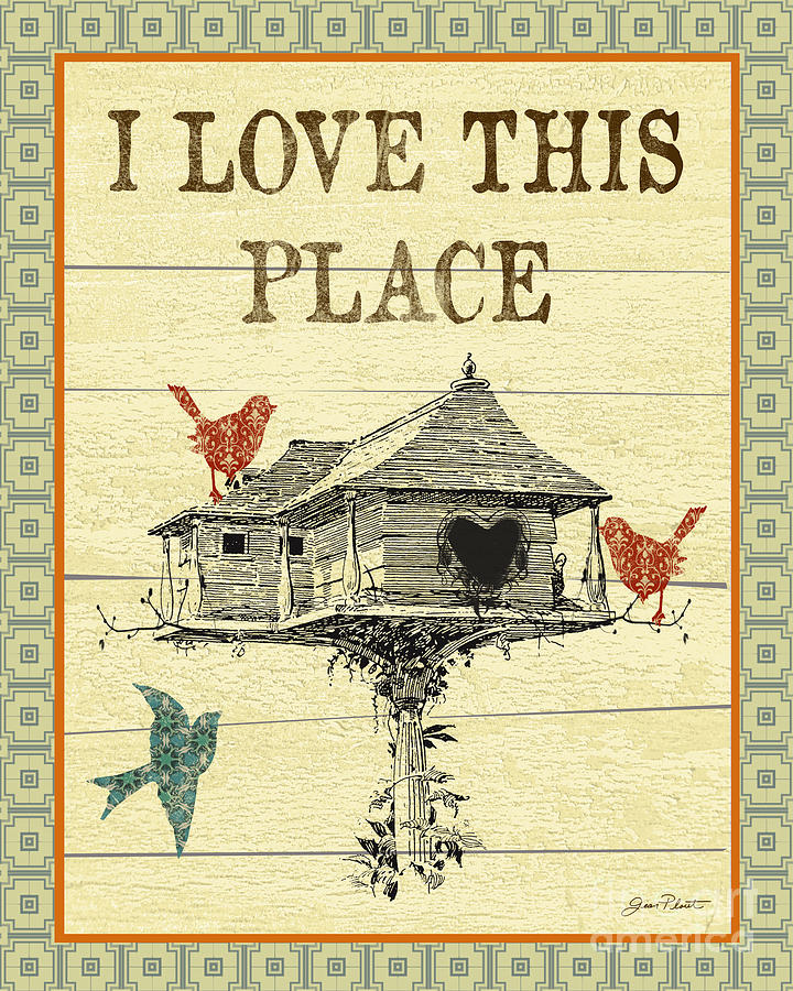 Birds Digital Art - I Love This Place by Jean Plout