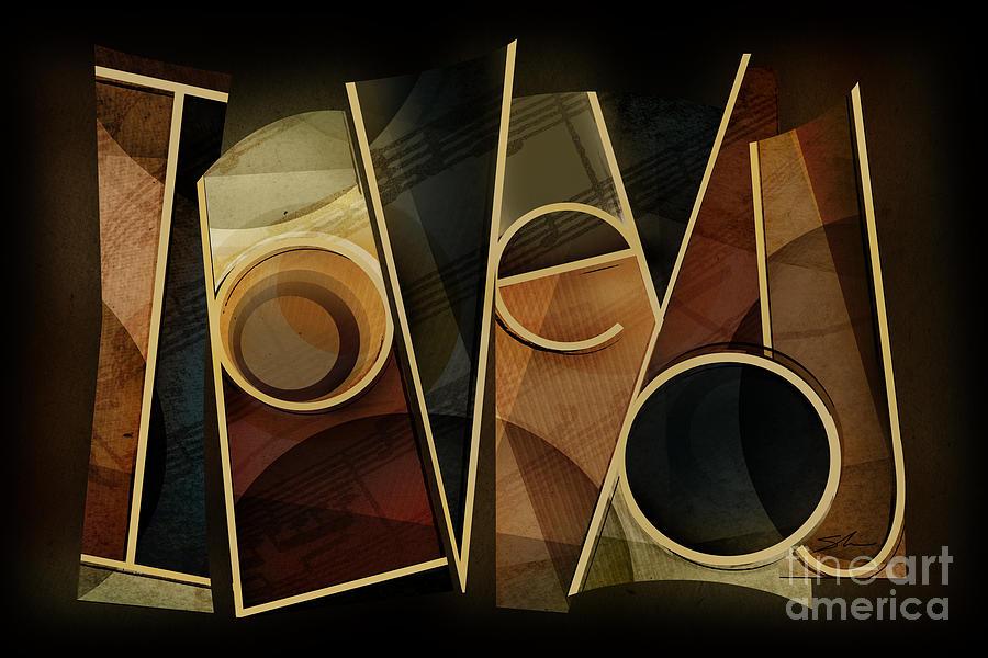 I Love You Mixed Media - I Love You - Abstract  by Shevon Johnson