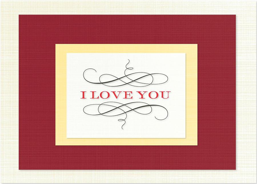 Valentine Card Digital Art - I Love You by Arce Lorena