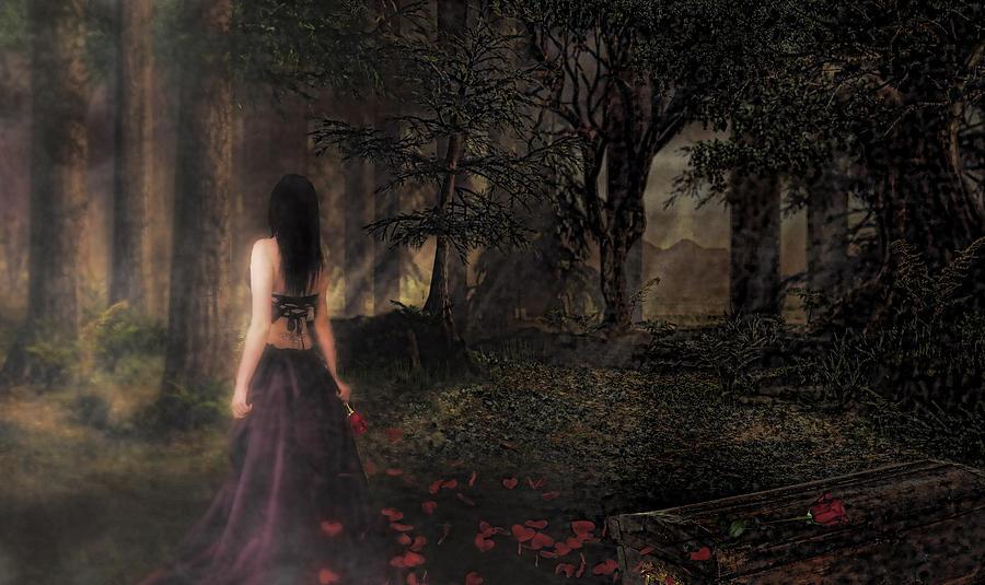 Woman Digital Art - I Love You To Death by Kristie  Bonnewell