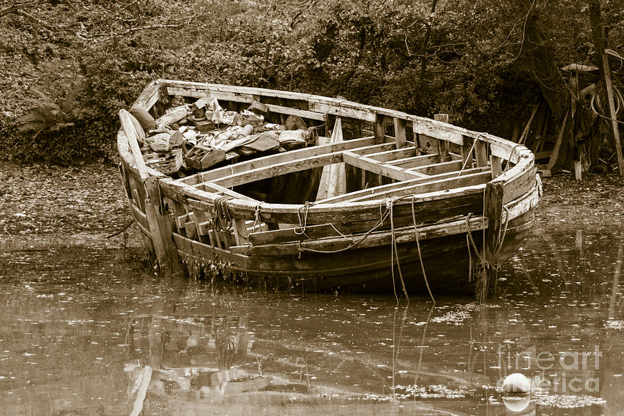 Wooden Boat Photograph - I Need A Couple Of Planks by Brian Roscorla