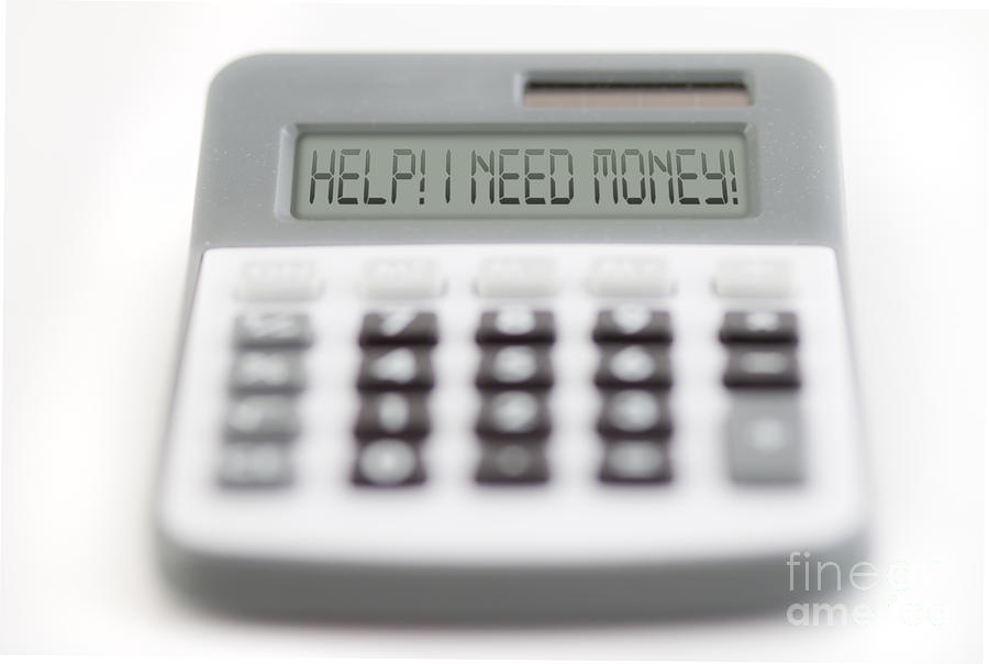 Acceptance Photograph - I Need Money by Michal Boubin