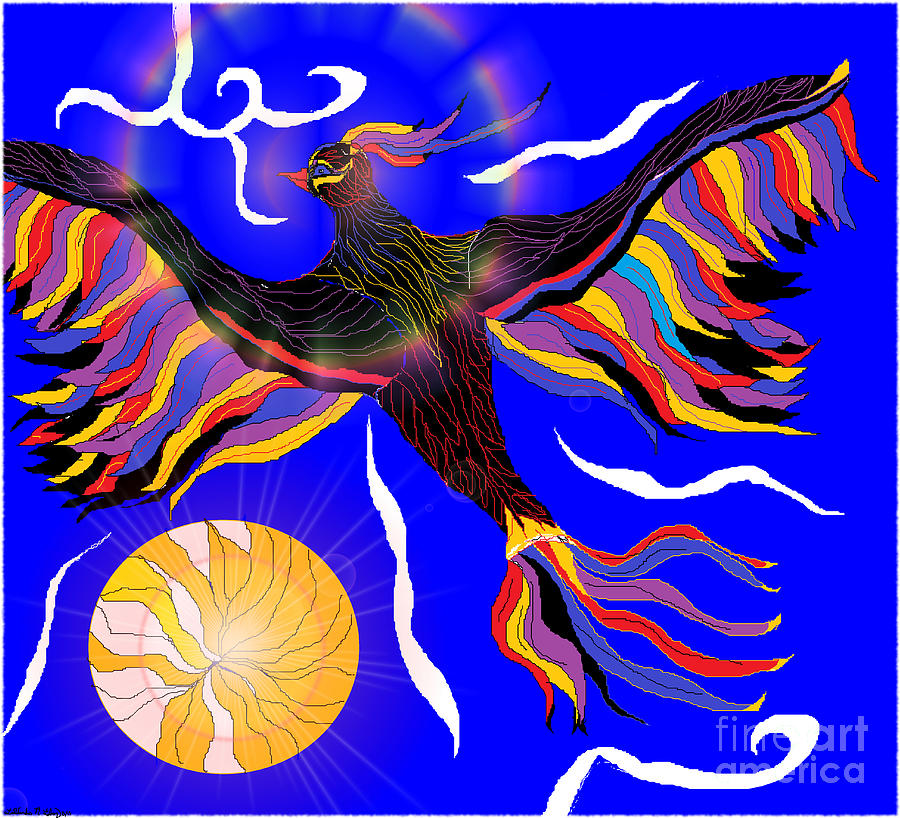 Bird Digital Art - I Rise by Lewanda Laboy