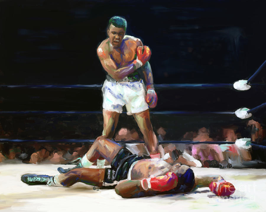 Muhammad Ali Mixed Media - I Shook Up The World by G Cannon