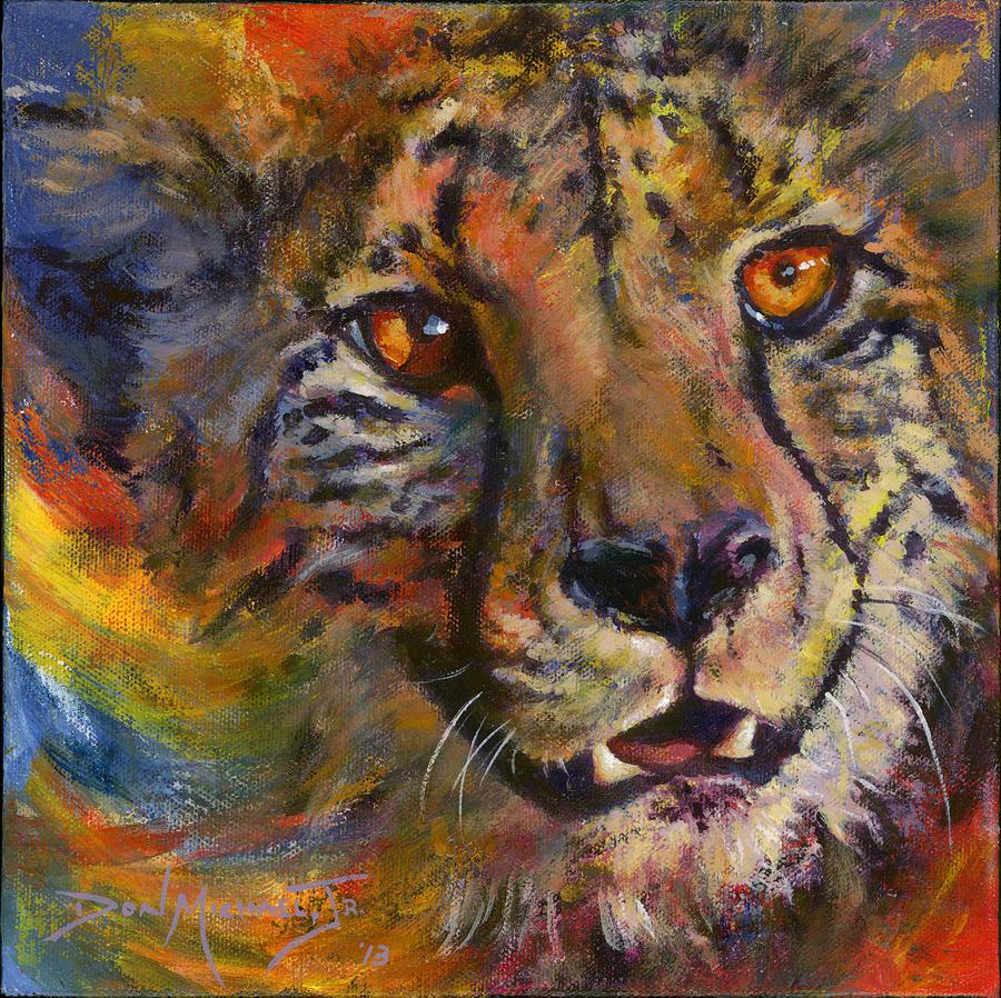 Cheetah Painting - I Spy by Don Michael Jr