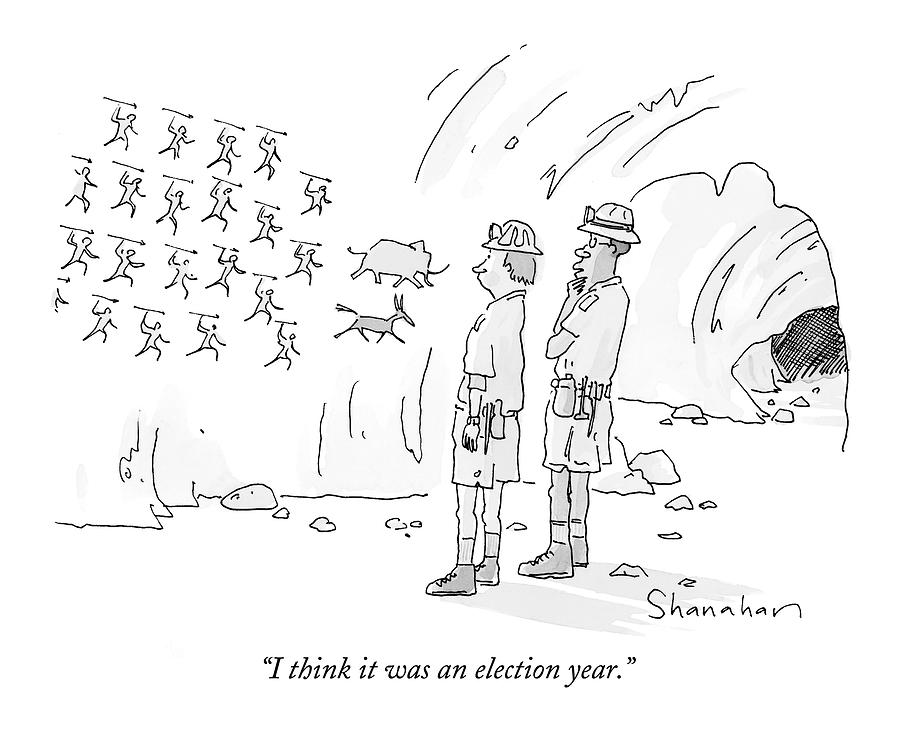 I Think It Was An Election Year Drawing by Danny Shanahan
