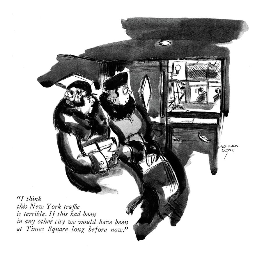 This New York Traffic Is Terrible Drawing by Leonard Dove