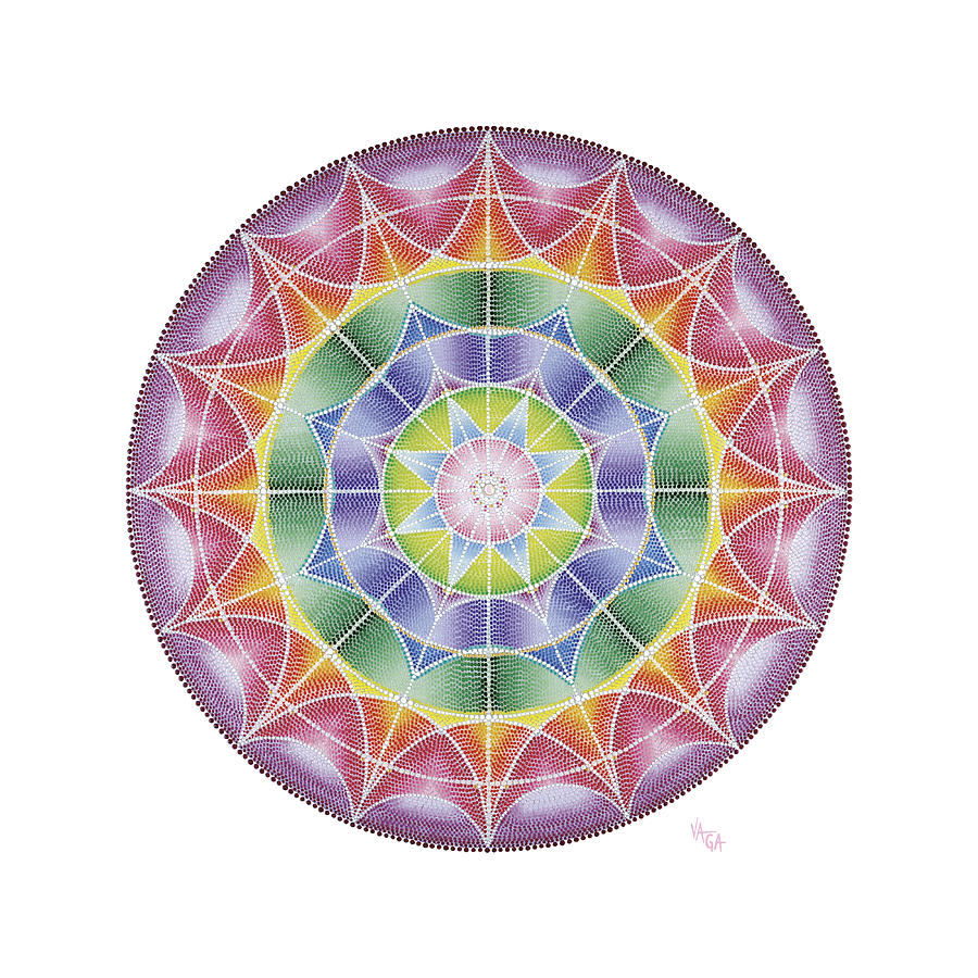 Mandala Painting - I Wait For You In The Heart by Vanda Omejc