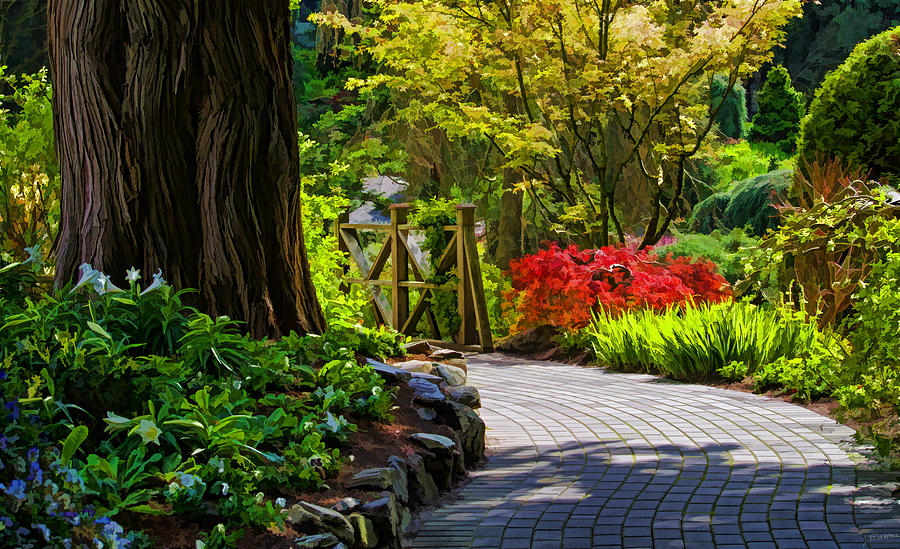 i walk through the garden alone photograph by jordan blackstone