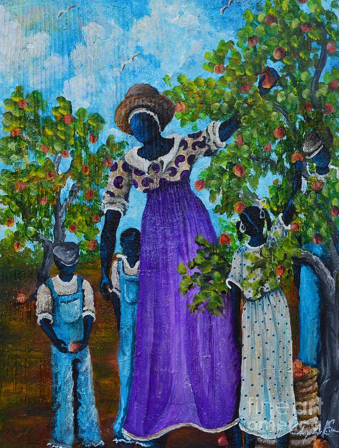 Authentic Painting - I Want A Peach by Sonja Griffin Evans